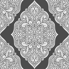 Black and white ornamental seamless pattern. Vintage vector, paisley elements. Ornament. Traditional, Turkish, Indian motifs. Great for fabric and textile, wallpaper, packaging or any desired idea.