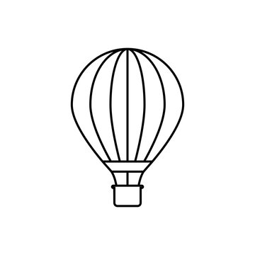 Hot air balloon outline icon. linear style sign for mobile concept and web design. Balloon flying simple line vector icon.