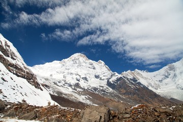 mount Annapurna south, Nepal Himalayas mountains