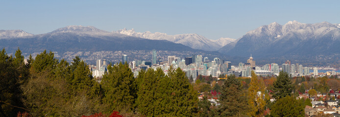 Wall Mural - Vancouver Winter Panorama