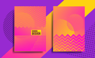 Covers with geometric pattern, bright
