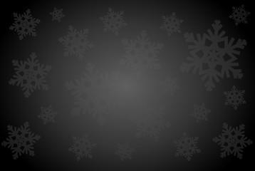 elegant black background with snowflakes