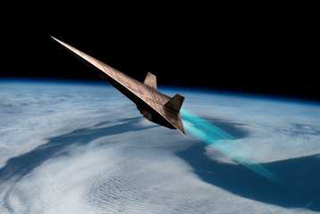 Unmanned Scramjet in high Earth flight No.1 - Elements of this image courtesy of NASA