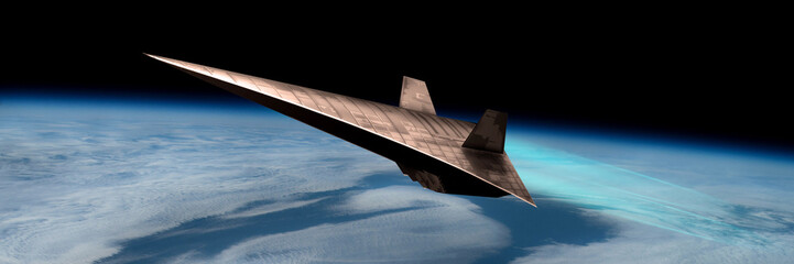 Unmanned Scramjet in high Earth flight No.1p - Elements of this image courtesy of NASA