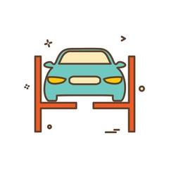 car washing van icon vector design