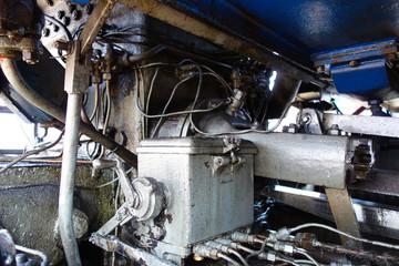 Steam locomotive chassis;