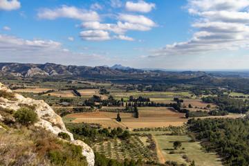 Valley between Les Baux de Provence and Alpilles