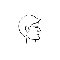 businessman avatar hand drawn icon. Outline symbol design from business set