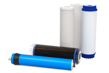 Water filters, carbon filters. Cartridge membrane for water filtration RO (reverse osmosis)