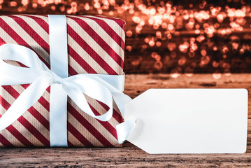 Christmas Gift, Copy Space For Advertisement, Bokeh
