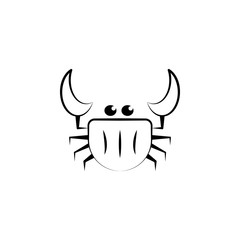 Crustacean, sea animal icon. Element of biology icon for mobile concept and web apps. Hand drawn Crustacean, sea animal icon can be used for web and mobile