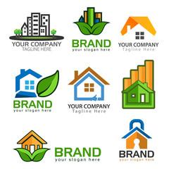 House Logo Design Vector, house icons set