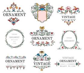 Vintage flourish ornament illustration
