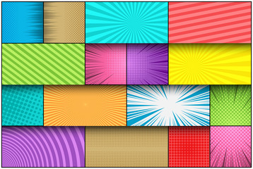 Comic page book colorful template