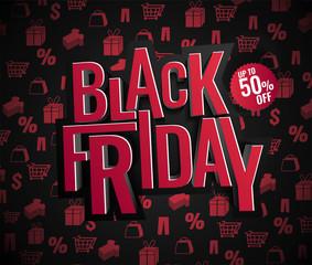 Black Friday sale. Vector illustration.