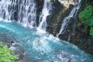 Printed roller blinds Waterfalls 美瑛の白髭の滝