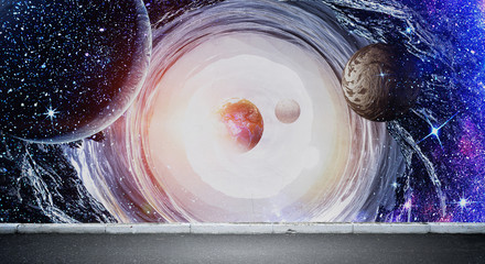 Space planets and nebula