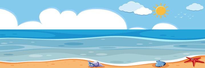 A panorama ocean landscape