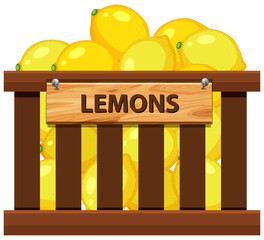 A crate of lemon