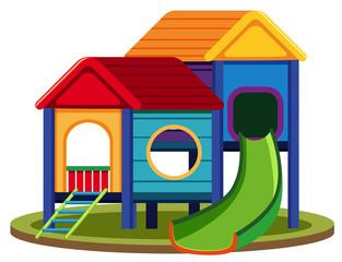 Isolated playhouse set on white background