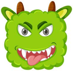 A playful monster head