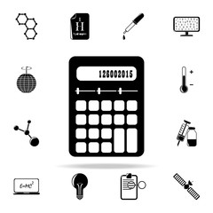 calculator icon. The science icons universal set for web and mobile