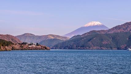Mount Hakone and Mount Fuji