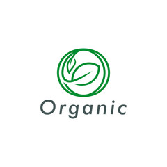 organic logo icon symbol design vector illustration