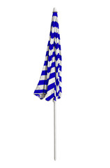 Beach umbrella closed - Blue-white striped