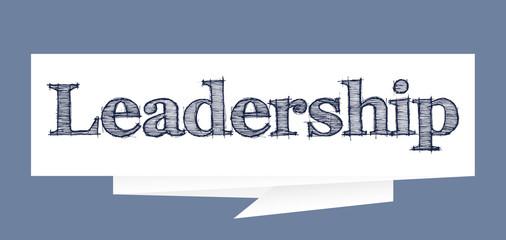 Leadership paper speech bubble sign Vector illustration