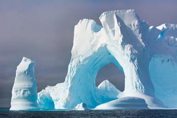Iceberg floating in the ocean of Antarctica
