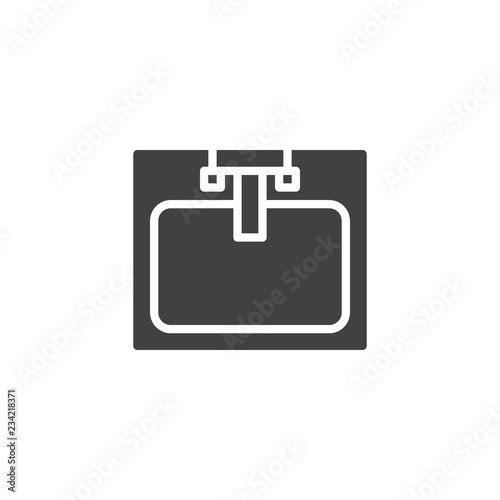 Sink With Faucet Top View Vector Icon Filled Flat Sign For Mobile