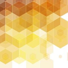 golden yellow hexagons. mosaic style. presentation layout. eps 10