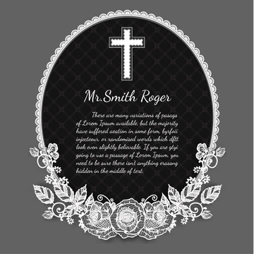 Black and white rose funeral card by hand drawing.Flower vector art highly detailed in line art style.