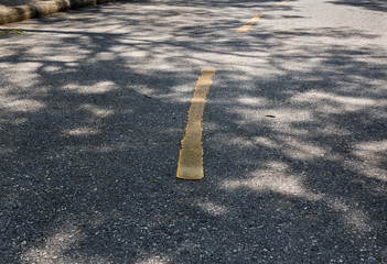 Asphalt highway with markings lines on road background
