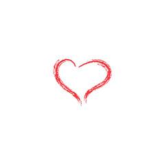 Cupid's heart.Vector illustration. Valentine's day heart. Simple heart.