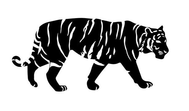 tiger silhouette 2