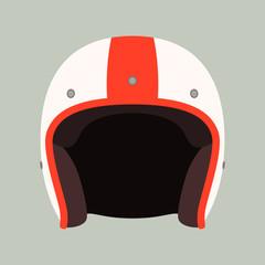 classic helmet motorcyclist, vector illustration.flat style,