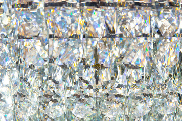 Diamond crystal glass reflect texture pattern luxury background.
