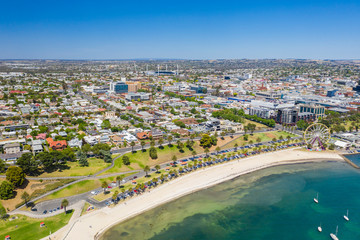 Aerial photo of Geelong in Victoria, Australia