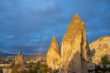 Wall Mural - Cappadocia cityscape skyline in Goreme, Turkey