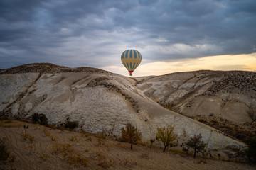 Wall Mural - Hot air balloon in Cappadocia, Turkey.