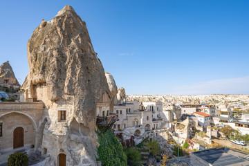 Wall Mural - View of Cappadocia city skyline in Cappadocia, Turkey.