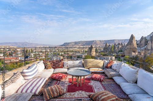 Wall mural Landscape of Cappadocia city in Turkey.