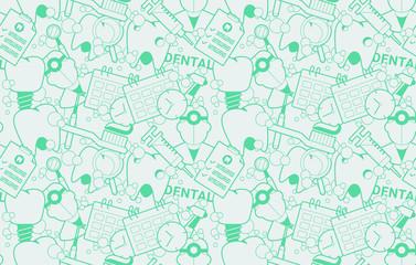 Seamless Dental Vector Pattern
