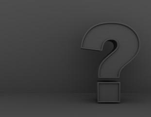 Question Mark concept . 3d rendered illustration
