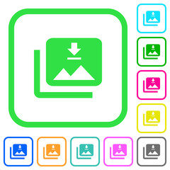 Download multiple images vivid colored flat icons