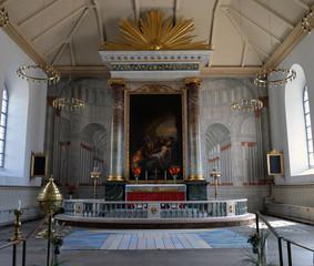 Innenansicht der Carl Gustav Kirche in Karlshamn