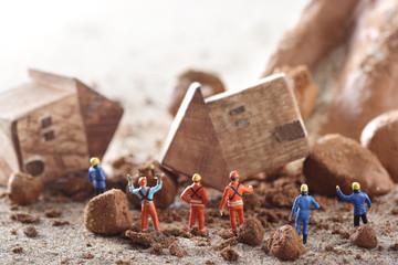 自然災害 土砂崩れ Fotomurales