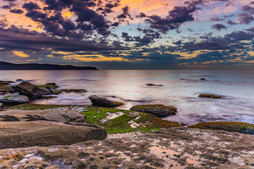 Gentle Seas and Pretty Clouds Sunrise Seascape
